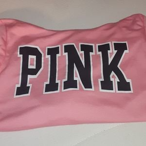 pink hoodie with pink logo